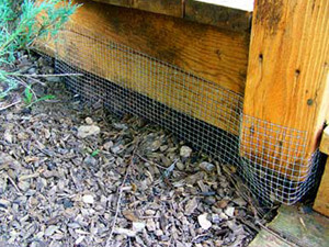 deck trenching screen